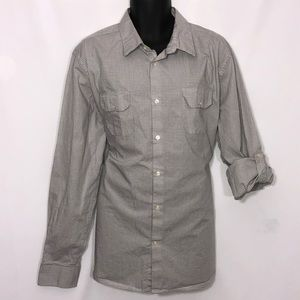 CLAIBORNE slim fit stretch button down casual shir